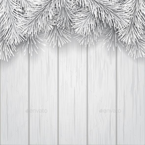 White Christmas Tree Branch - Christmas Seasons/Holidays
