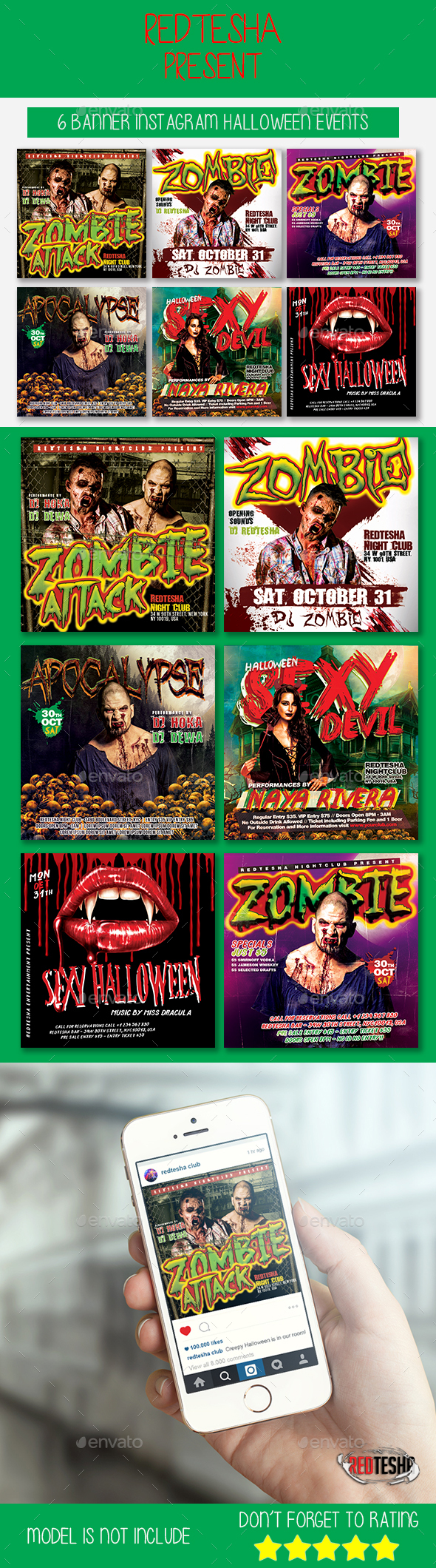 Instagram Banner Halloween Events - Banners & Ads Web Elements