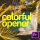 Colorful Opener for Premiere Pro - VideoHive Item for Sale