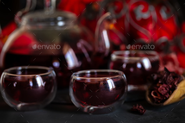 Hibiscus tea - Stock Photo - Images
