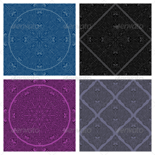 Decorative seamless patterns set - Patterns Decorative