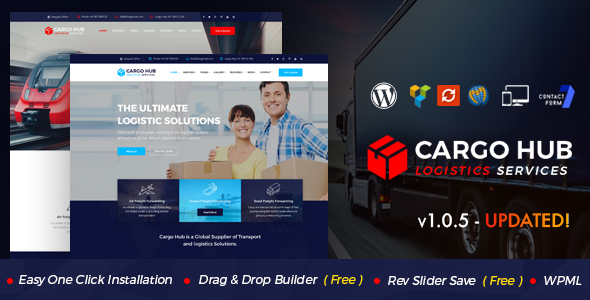 Cargo HUB - Transport WordPress Theme for Transportation, Logistics and Shipping Companies - Business Corporate
