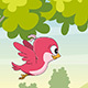 Cute Flying Cartoon Bird - VideoHive Item for Sale