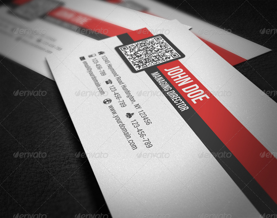 Simple corporate qr code business card by glenngoh graphicriver simple corporate qr code business card colourmoves