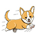 Corgi Puppy Running at Full Speed - GraphicRiver Item for Sale