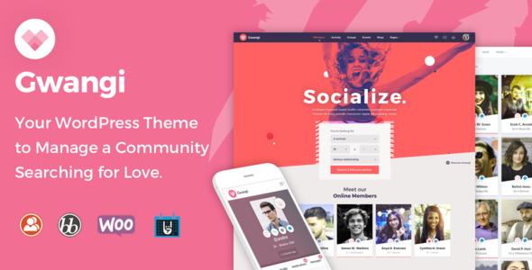 Gwangi - Dating & Matchmaking Community Theme - BuddyPress WordPress