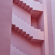 Geometric building detail. The red wall, La manzanera. Calpe, Spain - PhotoDune Item for Sale
