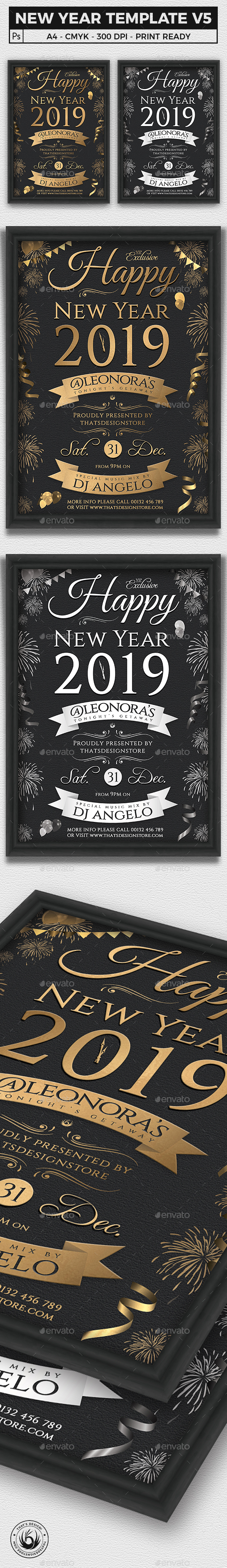 New Year Flyer Template V5 - Clubs & Parties Events