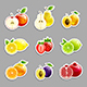 Set of Labels from Bright Fruits - GraphicRiver Item for Sale