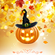 Halloween Pumpkin on Autumn Background - GraphicRiver Item for Sale