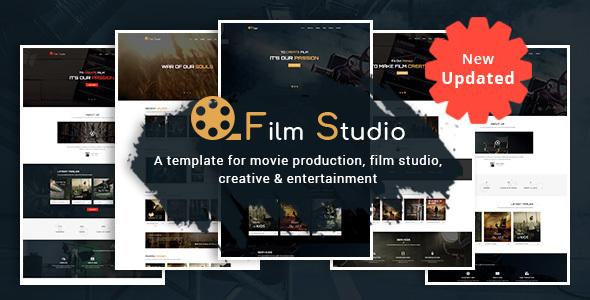 Film Studio - Movie Production, Film studio, Creative & Entertainment HTML Template - Film & TV Entertainment