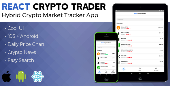 React Native Crypto Trader - CodeCanyon Item for Sale