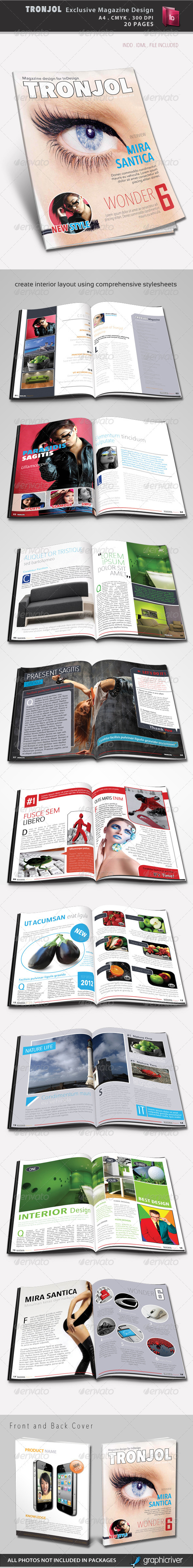 Tronjol Exclusive Magazine Design - Magazines Print Templates