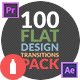Flat Design Transitions Pack | Mogrt - VideoHive Item for Sale