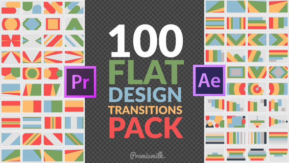 Flat Design Transitions Pack | Mogrt 22644859  - Project for After Effects & Premiere Pro Templates (Videohive)