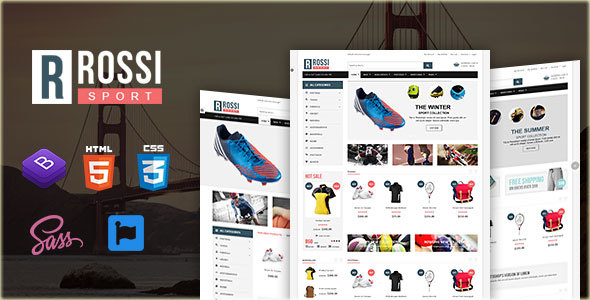 Rossi – Sports Store HTML Template