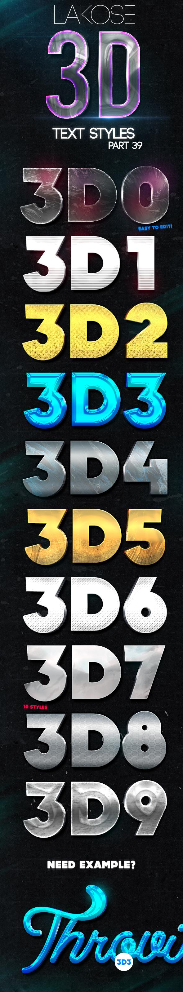 Lakose 3D Text Styles Part 39