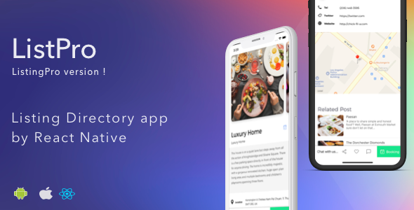 ListPro - Listing Directory React Native template            Nulled