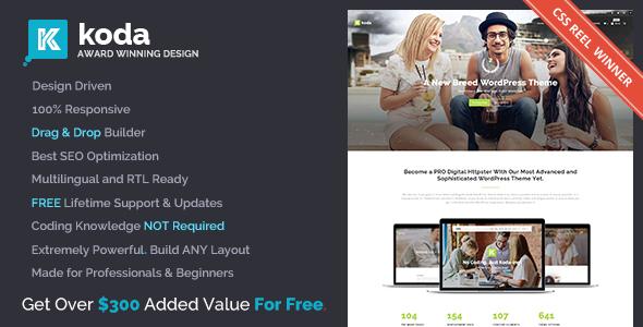 Koda - Creative Multi-Purpose Theme for Beginners and Professionals - Business Corporate