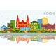 Kochi India City Skyline with Color Buildings - GraphicRiver Item for Sale