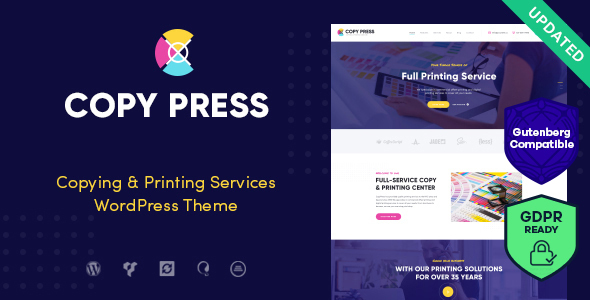 CopyPress | Type Design & Printing Services WordPress Theme - Retail WordPress