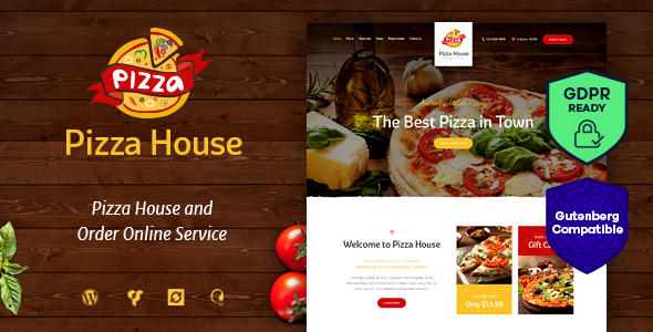 Pizza House - Restaurant / Cafe / Bistro WordPress Theme - Restaurants & Cafes Entertainment