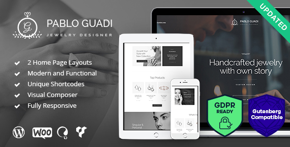 Pablo Guadi - Jewelry Designer & Handcrafted Jewelry Online Shop WordPress Theme - Shopping Retail