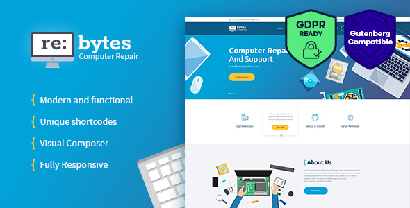 Re:bytes | Computer Repair Service WordPress Theme