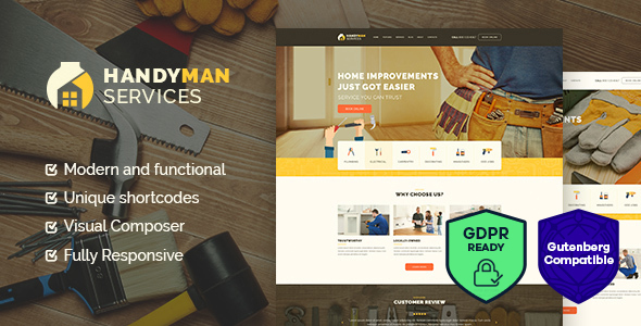 Handyman | Construction and Repair Services WordPress Theme