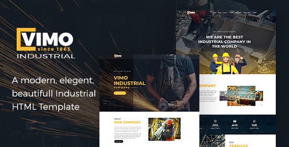 Vimo - Industry, Industrial, Factory and Engineering HTML Template