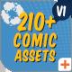 Comic Titles - Speech Bubbles - Emoji - Flash FX Graphic Pack - VideoHive Item for Sale
