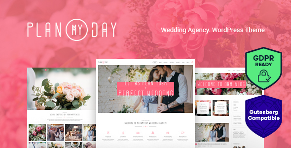 Plan My Day | Wedding / Event Planning Agency WordPress Theme - Wedding WordPress