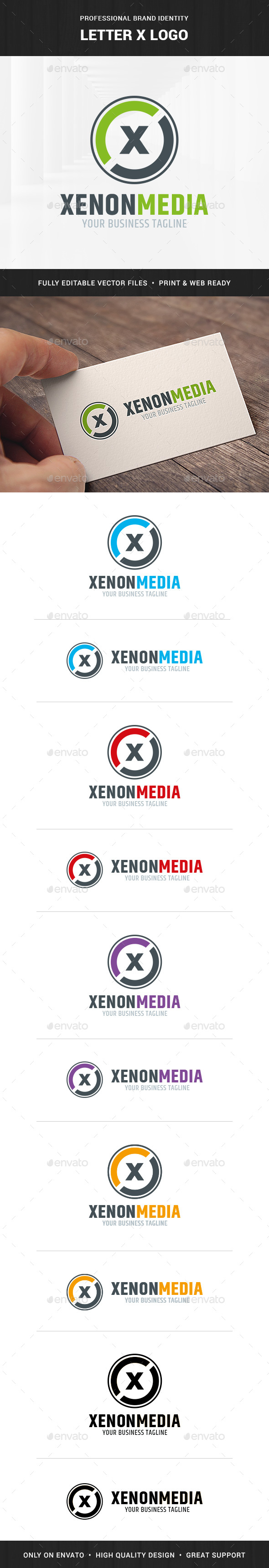 Letter X Logo Template - Letters Logo Templates