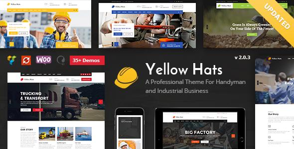 Construction Yellow Hats - Construction, Building & Renovation Theme - Business Corporate