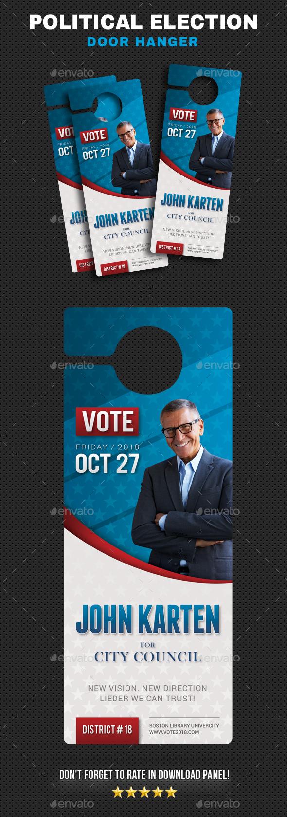 Political Election Hanger - Miscellaneous Print Templates