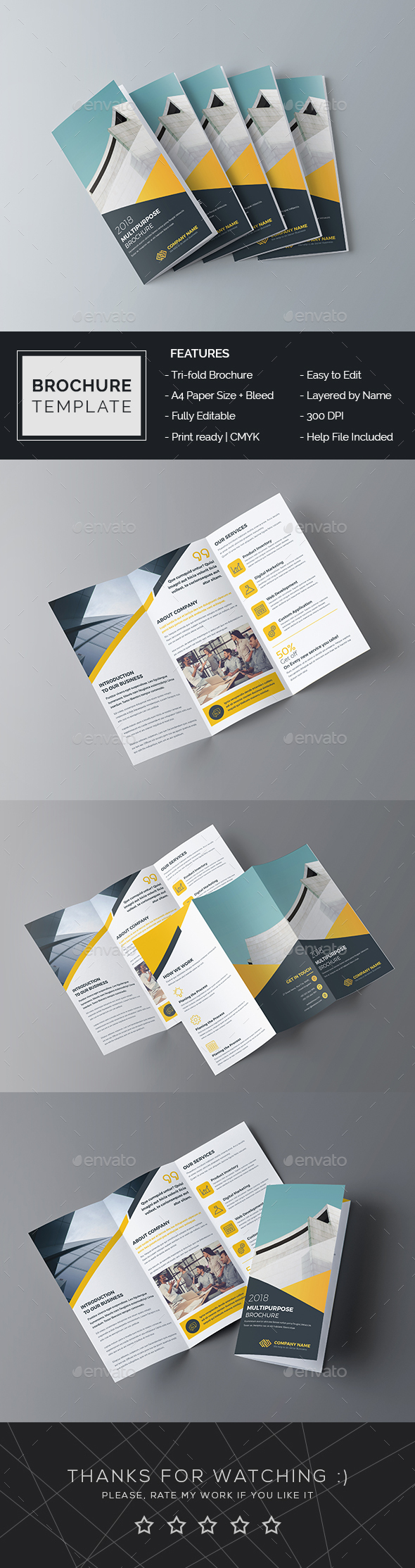 Trifold Brochure InDesign Template - Brochures Print Templates