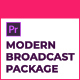 Modern Broadcast Package | Essential Graphics | Mogrt - VideoHive Item for Sale