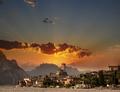 Malcesine sunset, Italy - PhotoDune Item for Sale