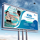 Kids Swimming Training Billboard - GraphicRiver Item for Sale