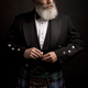 mature male model wearing kilt with grey hairstyle and beard - PhotoDune Item for Sale