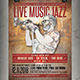 Live Music Jazz Flyer / Poster - GraphicRiver Item for Sale