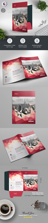Abstract Presentation Folder - Stationery Print Templates