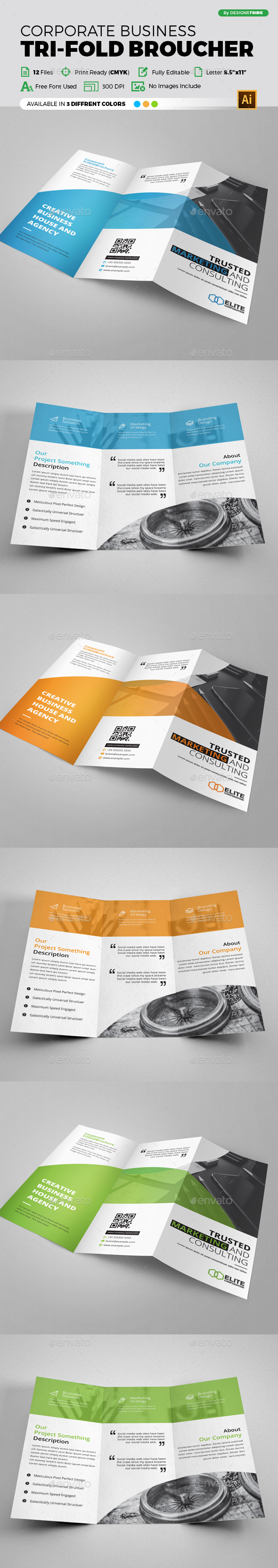 Trifold Brochure - Brochures Print Templates