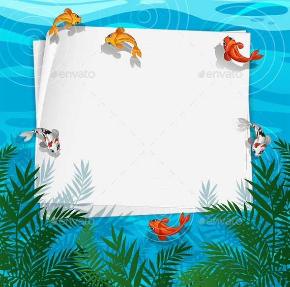 Fish Pond Frame by interactimages | GraphicRiver