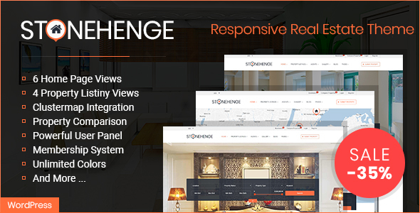 Stonehenge - Real Estate Responsive WordPress Theme - Real Estate WordPress