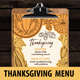 Thanksgiving Food Menu - GraphicRiver Item for Sale
