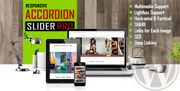 Accordion Slider PRO - Responsive Image And Video WordPress Plugin            Nulled