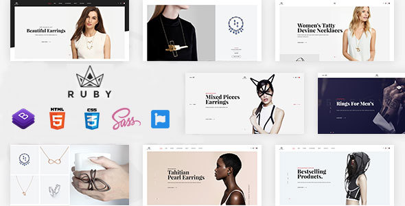 Ruby - Jewelry Store eCommerce Bootstrap 4 Template