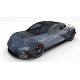 Tesla Roadster 2020 Midnight Silver with interior and chassis - 3DOcean Item for Sale
