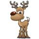 Deer Cartoon Character Vector Illustration - GraphicRiver Item for Sale